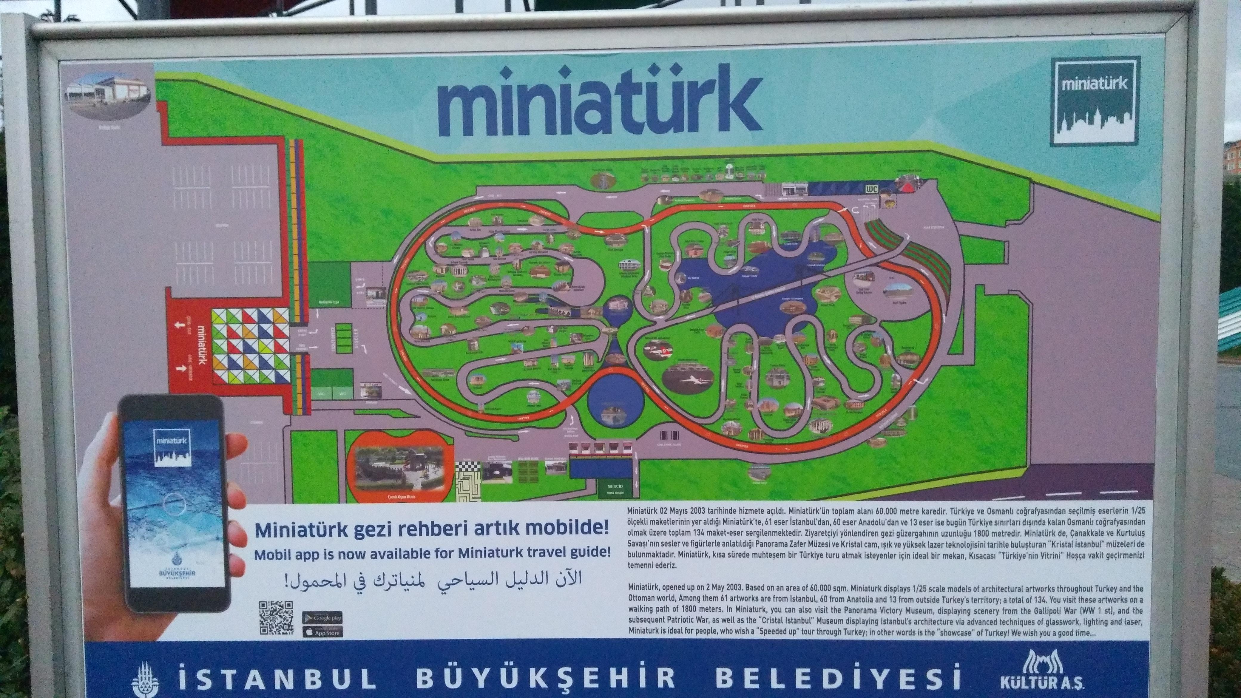Miniatürk Gezi Haritası