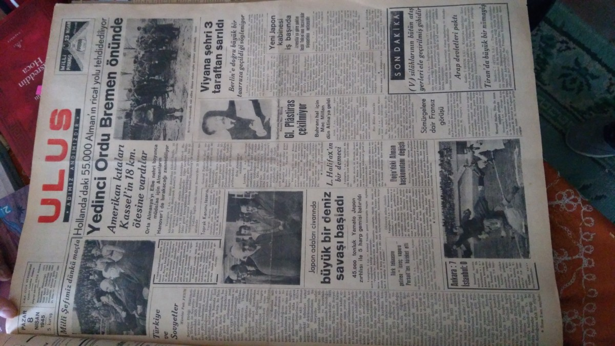 Pertev Naili Boratav Kültür evi eski gazete
