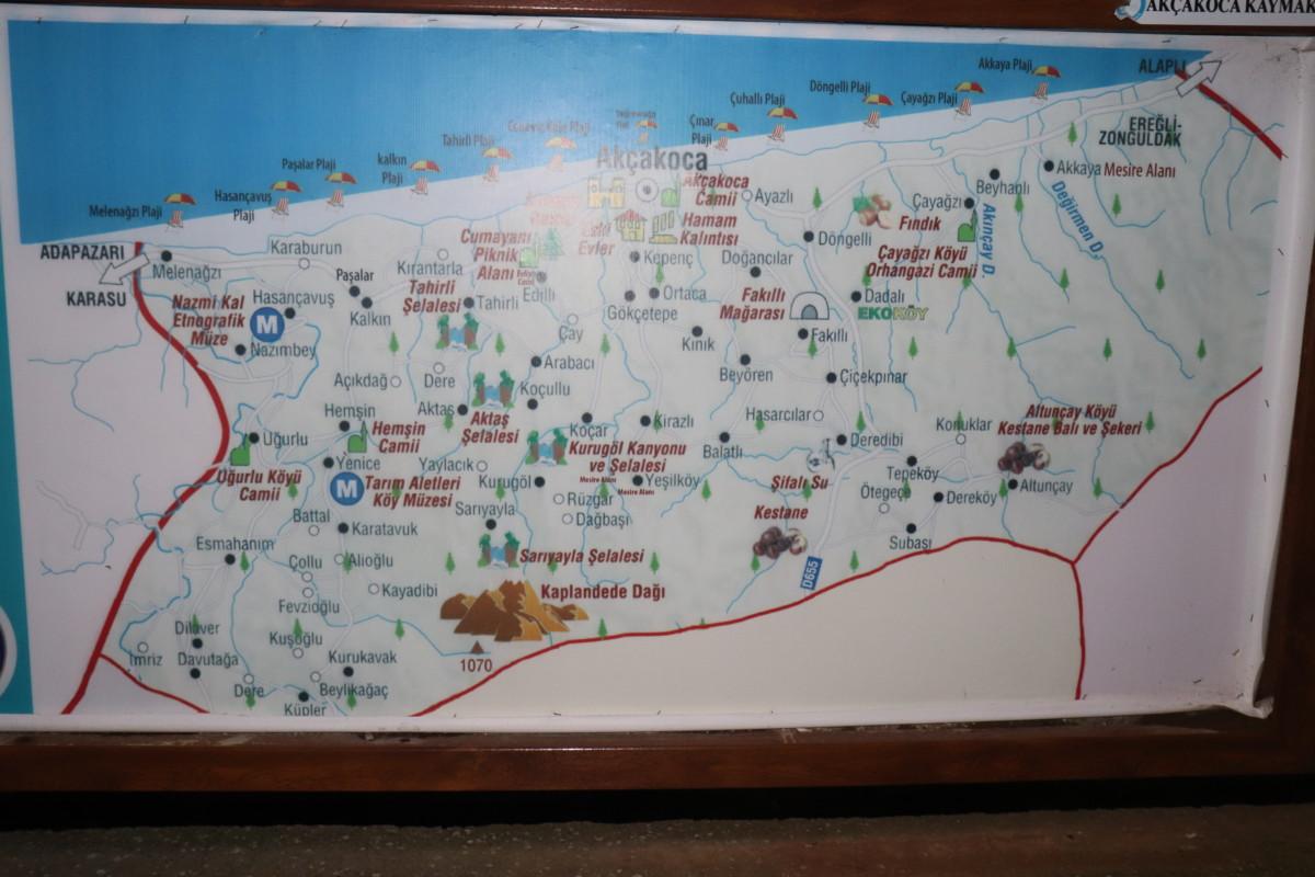 Akçakoca Gezi Haritası