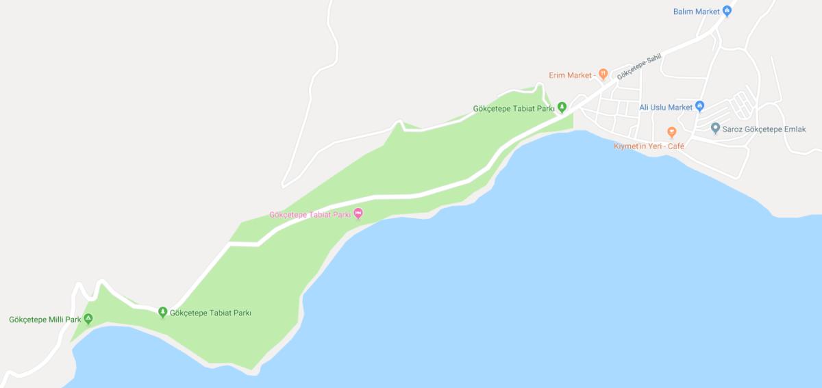 Gökçetepe Tabiat Parkı  Harita Görünüm